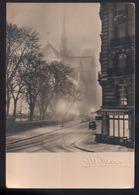 REF 403 : CPSM Albert Monier Notre Dame De Paris Cathédrale Fleche - Monier