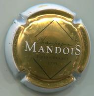 CAPSULE-CHAMPAGNE MANDOIS N°06a Or Contour Blanc Ecrit. Fine - Other