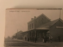 Dottignies, St Leger, Intérieur De La Gare - Moeskroen