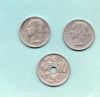 Belgique 1929 10c  + Baudouin L 1957-74 - 1909-1934: Albert I