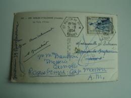 Saint Martin De Brem Recette Auxiliaire Chat Hexagonal Obliteration Sur Lettre - Storia Postale