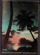 Polynésie Française Coucher De Soleil à Huahine Iles Sous Le Vent - Polinesia Francese