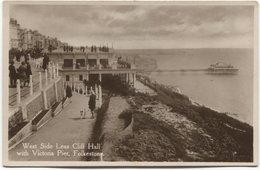 1931 Folkestone - West Side Leas Cliff Hall With Victoria Pier - Folkestone