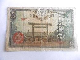 JAPON-BILLET DE 50 SEN-1943-N°307 - Japon