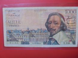 FRANCE 1000 FRANCS 1955 CIRCULER  (B.6) - 1871-1952 Antichi Franchi Circolanti Nel XX Secolo