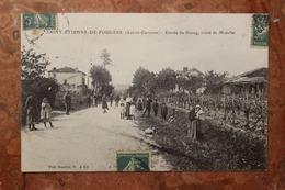 SAINT ETIENNE DE FOUGERE (47) - ENTREE DU BOURG - ROUTE DE MONCLAR - France