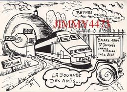 CPM - BEYNES 78 Yvelines - 3è Journée Cartes Postales 1991 - Illust. J-C Sizier - Ed. Des Escargophiles - Tirage 150 Ex. - Bourses & Salons De Collections