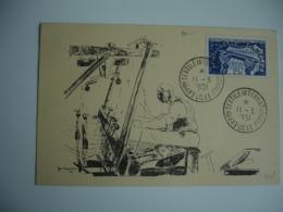 1951 Lille Exposition Rextile Internationale C M Carte Maximum - 1950-59