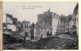 X59197 LILLE Nord Rue Du BLEU-MOUTON Street CpaWW1 Ruines Guerre 1914-1918- La PENSEE 2953 - Lille