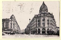 X59008 LILLE Nord Hotel CARLTON Rues FAIDHERBE Et PARIS Flamme KRAG Loterie Nationale 1937 -TOUPIOL Tabacs - Lille
