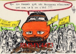 CPM - HUMOUR - Le T.G.V. Ne Passera Pas - été 1990 - Création G. NEMOZ 38 Beaurepaire - Humor