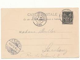 PARIS - Cachet Paris Exposition Sur Carte Postale, Section Russe, 2 Scans - Marcophilie (Lettres)