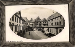 Gaufré Passepartout Cp Limburg An Der Lahn, Stadtansicht, Straßenpartie - Otros