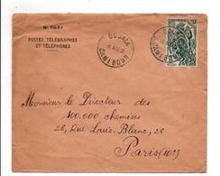 CAMEROUN LETTRE AVION DE DOUALA POUR LA FRANCE 1951 - Cameroun (1915-1959)