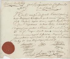 Armée Du Rhin 8è. Régiment De Chasseur à Cheval Certificat An 2 - 1794 Houssen Généalogie Feigle Beau Cachet De Cire - Documents Historiques