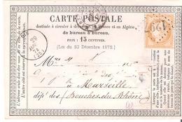 Drome :- DIE G.C.1297 Dateur Type 16 Sur Carte Précurseur - Marcophilie (Lettres)