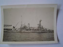 PHOTOGRAPHIE Ancienne : MARINE NATIONALE / LA PROVENCE / CASABLANCA / MAROC 1937 - Barche