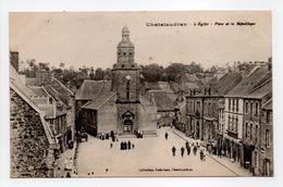 - CPA CHATELAUDREN (22) - L'Eglise - Place De La République (avec Personnages) - Collection Raboteau - - Châtelaudren
