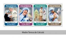 Mozambique 2018  Mother Teresa ,Pope John Paul II ,  Princess Diana   S201806 - Mosambik