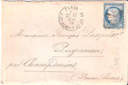 PARIS Etoile 20 Dateur R.ST DOMQUE ST GN 53 - Marcophilie (Lettres)
