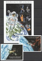 U483 ANTIGUA & BARBUDA SPACE SPACE SHUTTLE & MMU 2BL+1KB MNH - Espace