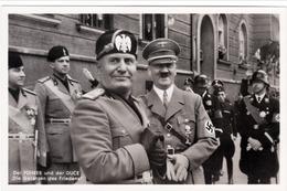 """Propaganda Karte, Der FÜHRER Und Der DUCE,  """" Die Garanten Des Friedens """" - Weltkrieg 1939-45"""