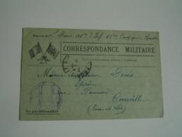 Ww 1 Carte Franchise Postale Carton Vert 2 Drapeau Coin Gauche Guerre 14.18 - Marcophilie (Lettres)