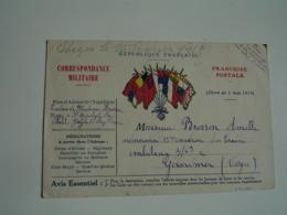 Ww 1 Carte Franchise Postale Edi A C C  7 Drapeaux Central Guerre 14.18 - Marcophilie (Lettres)