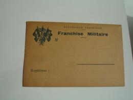 Ww 1  Carte Franchise Postale 3 Drapeaux Bleu Cote Gauche Guerre 14.18 - Marcophilie (Lettres)