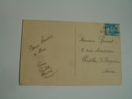 Chatillon Sous Bayeux   Griffe Marque Lineaire Obliteration De Fortune Sur Lettre - Marcofilie (Brieven)