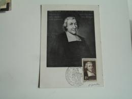 Signature  Envoi De Gandon C M Carte Maximum  Jean Baptiste La Salle  Reims - 1950-59