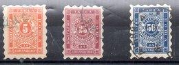Serie De Bulgaria Tasas Nº Yvert 1/3 (o) Valor Catálogo 220.0€ - Impuestos
