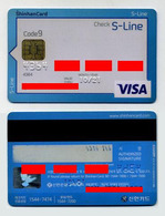 Carte à Puce. VISA Credit Card. Shinhan Bank, South Korea, Corée Du Sud. Check S-Line - Corée Du Sud