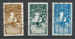 ESPAÑA  EDIFIL 1180/82 - 1951-60 Usados