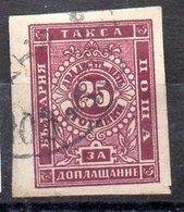 Serie De Bulgaria Tasas Nº Yvert 5 (o) Valor Catálogo 30.0€ - Impuestos