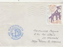 MIssion HERACLES -  Frégate FLF GUEPRATTE Juin Septembre 2002 Cachet Flamme Paris Tri Interarmées - Postmark Collection (Covers)