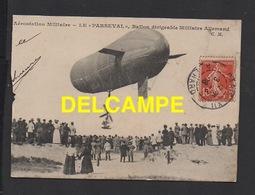 """DF / AVIATION / AÉROSTATION MILITAIRE / LE """" PARSEVAL """" , BALLON DIRIGEABLE ALLEMAND / 1908 - Zeppeline"""