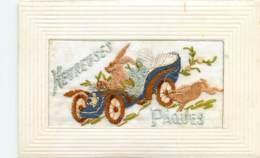 Fantaisie , Carte Brodée  , Paques , * 431 35 - Embroidered