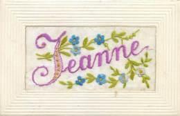 Fantaisie , Carte Brodée  , Jeanne , * 431 37 - Embroidered