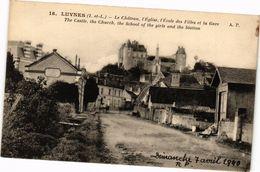 CPA LUYNES - Le Chateau L'Église L'École Des Filles Et La (228759) - Luynes