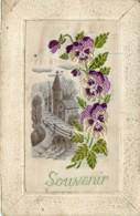 Carte Tissée Et Brodée Sur Soie , * 431 56 - Embroidered