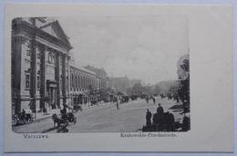 Polska, Warszawa, Krakowskie Przedmiescie, Union Postale Universelle, Dos Simple - Pologne