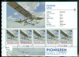 RARE * NEDERLAND 2015 * FOKKER SPIN * AIRPLANE * AVIATION * BLOCK * VLIEGTUIG * POSTFRIS GESTEMPELD (BLOK 249) - Period 2013-... (Willem-Alexander)