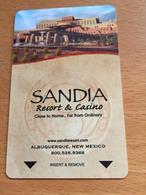 Hotelkarte Room Key Keycard Clef De Hotel Tarjeta Hotel   SANDIA Resort & Casino  ALBUQUERQUE - Telefonkarten