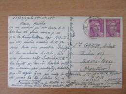 Correspondance Militaire - Cachets Postes Aux Armées 1948 Sur CP Vers Buenos-Aires (Argentine) - Postmark Collection (Covers)