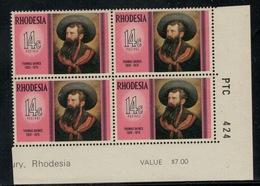 Rhodesie Du Sud // Rhodesia // 1975 // Thomas Baines MNH ** No. Y&T 253 En Bloc De 4 - Southern Rhodesia (...-1964)