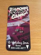 Hotelkarte Room Key Keycard Clef De Hotel Tarjeta Hotel  HOLIDAY INN RENO DIAMOND`S CASINO - Télécartes