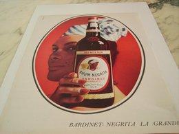 ANCIENNE PUBLICITE  RHUM NEGRITA DE BARDINET  1964 - Alcools