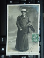 Cpa Photo Les Femmes Cochères à Paris Mme LUTGEN  Ex-comtesses 2 Tampons Fernand QUIGNON Velours Paris. 1908 - Métiers