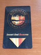 Hotelkarte Room Key Keycard Clef De Hotel Tarjeta Hotel  FORTUNE BAY RESORT CASINO  LAKE VERMILION - Télécartes